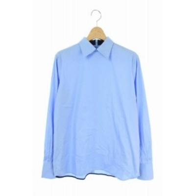 【中古】チノ CINOH バックジッププルオーバーシャツ 長袖 水色 /MY ■OS■ レディース