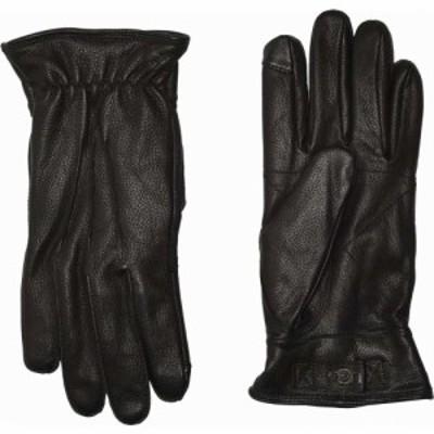 アグ UGG メンズ 手袋・グローブ 3 Point Leather Tech Gloves with Sherpa Lining Black