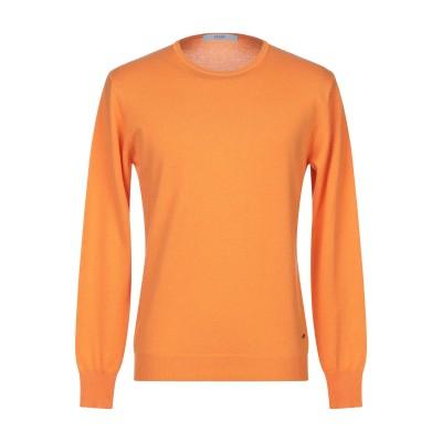 LIU •JO MAN プルオーバー オレンジ S ウール 60% / シルク 25% / カシミヤ 15% プルオーバー