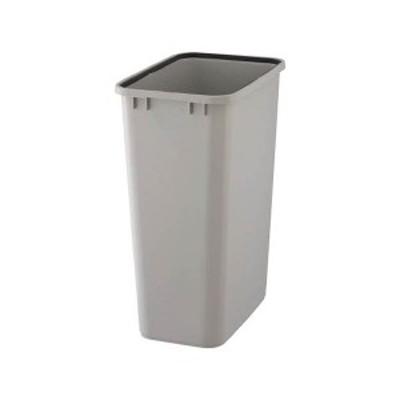 TRUSCO PPペール角型 本体95L グレー TPPK-90-GY 1個(フタ別売) 生活用品 インテリア 雑貨 日用雑貨 ゴミ箱[▲][TP]