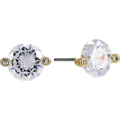 ケイトスペード Brilliant Statements Duo Prong Studs Earrings レディース ピアス イヤリング Clear/Gold