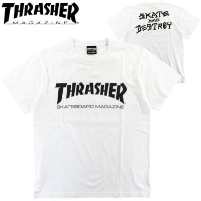Tシャツ メンズ スラッシャー マグロゴ バックプリント ショートスリーブTシャツ スケートボード ストリート THRASHER TH91285