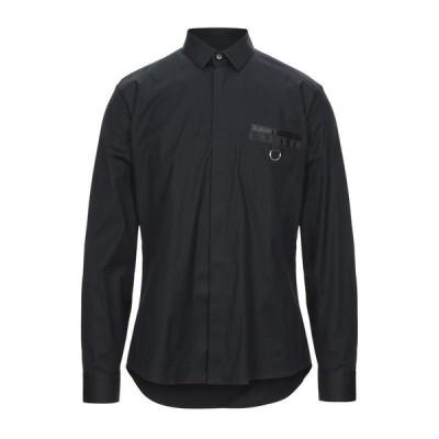 LES HOMMES 無地シャツ ファッション  メンズファッション  トップス  シャツ、カジュアルシャツ  長袖 ブラック