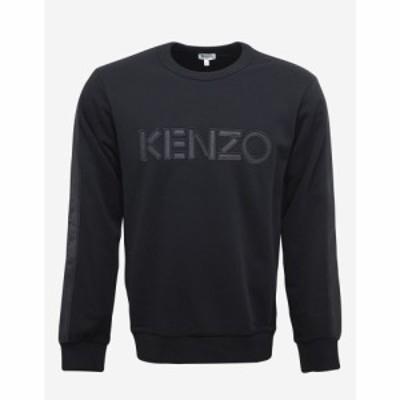 ケンゾー Kenzo メンズ スウェット・トレーナー トップス Black Logo Sweatshirt with Nylon Inserts Black