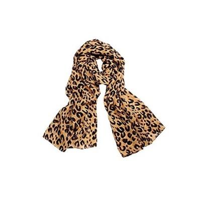 JewelryWe 大切な人や,彼氏・彼女へのプレゼント:ファッション アクセサリー さらさら レディース スカーフ アニマル柄 ストール ヒョウ柄