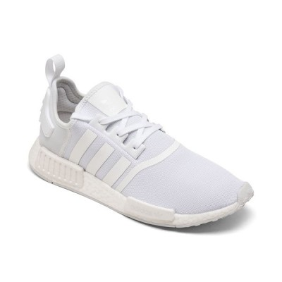 アディダス スニーカー シューズ メンズ Men's NMD R1 Casual Sneakers from Finish Line Footwear White