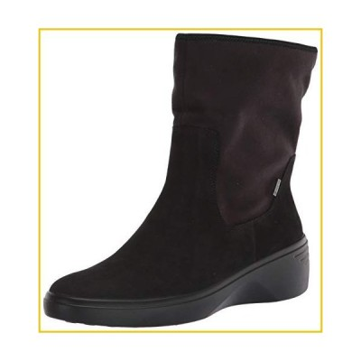 ECCO womens Soft 7 Wedge Gore-tex Mid Calf Boot, Black/Black Nubuck, 11-11.5 US