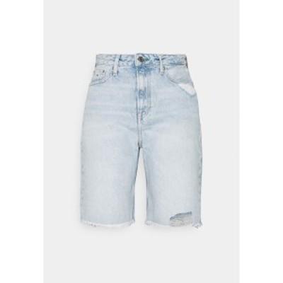トミーヒルフィガー レディース デニムパンツ ボトムス HARPER DENIM BERMUDA - Denim shorts - light blue denim light blue denim