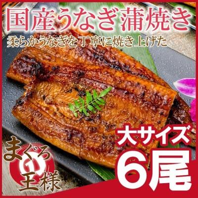 国産うなぎ蒲焼き 大サイズ 平均165g前後×6尾