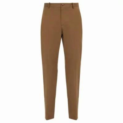 アーペーセー チノパン Quake straight-leg cotton-blend chino trousers Khaki beige