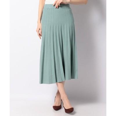 【エーシーデザインバイアルファキュービック】【セットアップ対応】ニットプリーツスカート