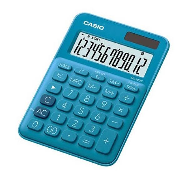 【奇奇文具】CASIO MS-20UC-BU 俏藍莓 12位馬卡龍計算機
