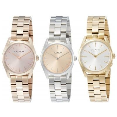 選べる3色 コーチ レディース 腕時計 プレゼント 女性 大人 シンプル シルバー ローズゴールド ゴールド