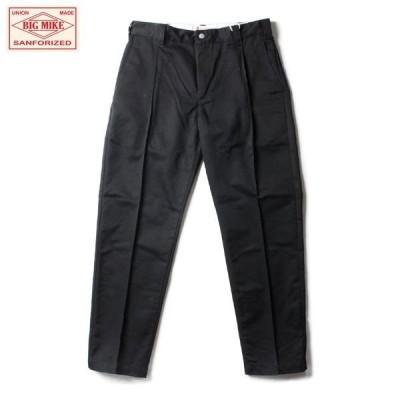 BIG MIKE/ビッグマイク PIN-TACK CHINO WORK PANTS/ピンタッグチノワークパンツ・BLACK