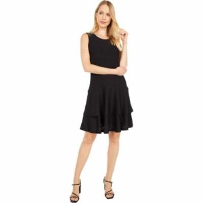 マイケル コース MICHAEL Michael Kors レディース ワンピース ノースリーブ ワンピース・ドレス Floral Jacquard Sleeveless Dress Blac