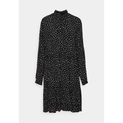 カフェ レディース ワンピース トップス KABILLIE AMBER DRESS - Day dress - black/chalk black/chalk