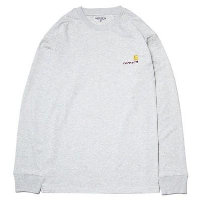 カーハート Tシャツ 長袖 ロンT CARHARTT WIP L/S American Script T-Shirt アッシュ
