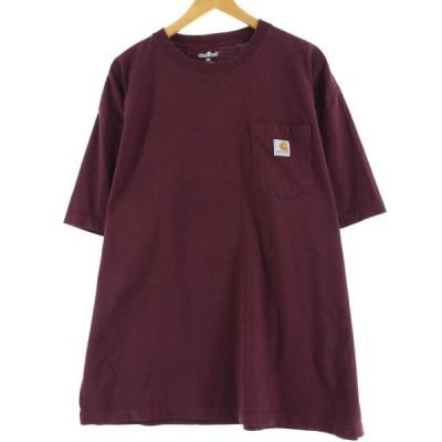 カーハート ワンポイントロゴポケットTシャツ XXL /eaa049318