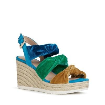 ジェオックス レディース サンダル シューズ Ponza Rainbow Knotted Velvet Espadrille Sandals