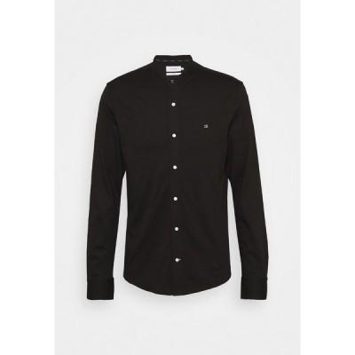 カルバンクライン カットソー メンズ トップス SLIM STAND COLLAR  - Long sleeved top - black
