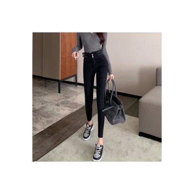 【送料無料】女性のジーンズ ハイウエスト 着やせ 秋冬 デザイン 感 着やせ スリム   364331_A64187-3956969