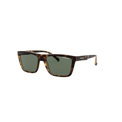 Arnette An4262 Deep Ellum Square Sunglasses, Havana/Polarized Green, 55 mm 並行輸入品