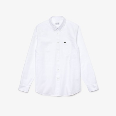 ラコステ LACOSTE オックスフォードボタンダウンシャツ (ホワイト)