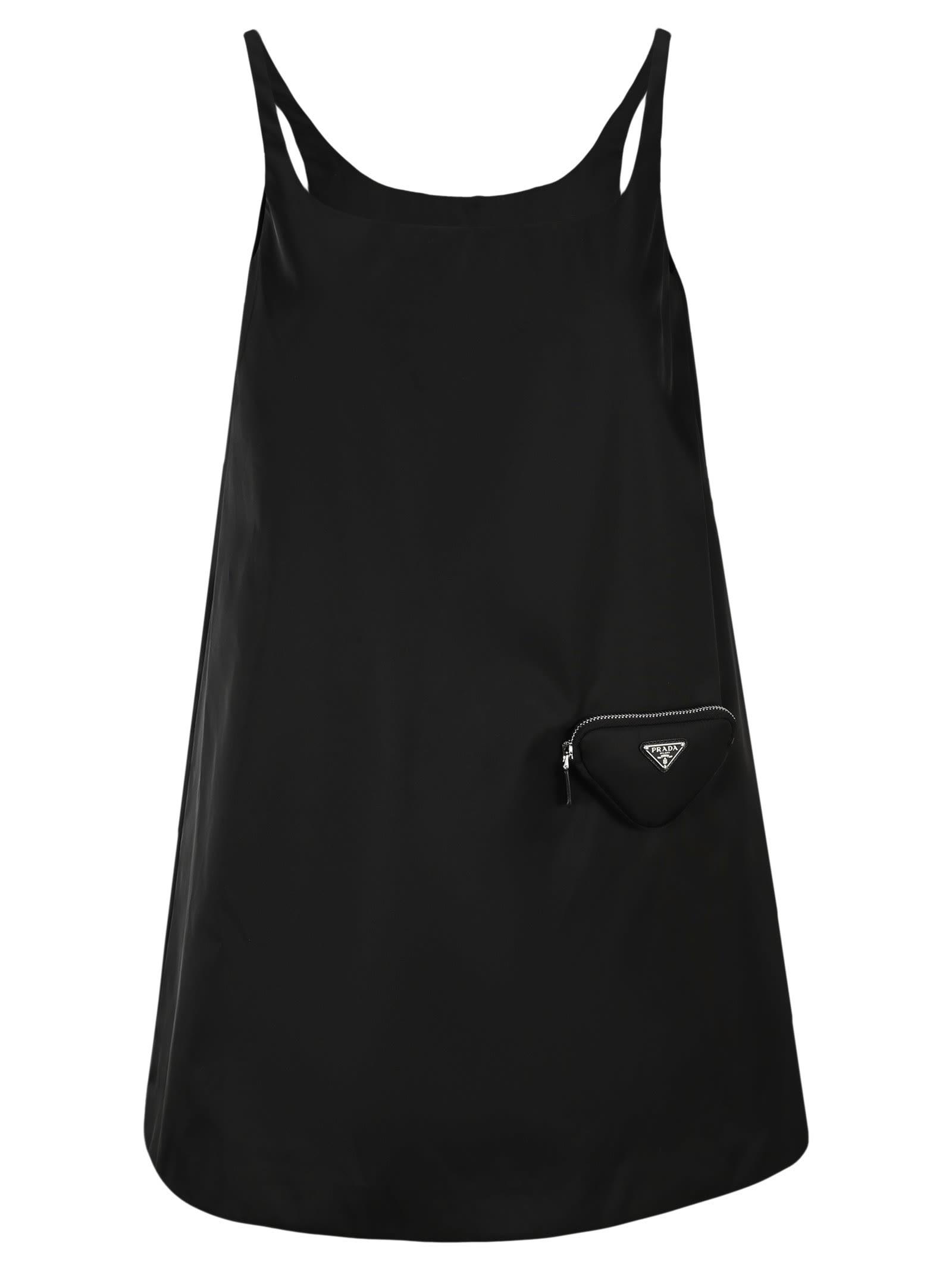 Prada Re-nylon Sleeveless Dress With Pouch
