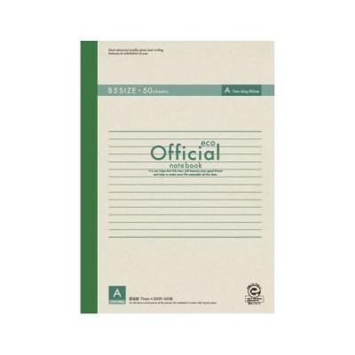 (業務用セット) アピカ オフィシャルノート 無線綴じノート A罫(7mm) エコタイプ 6A5FE 1冊入 〔×10セット〕