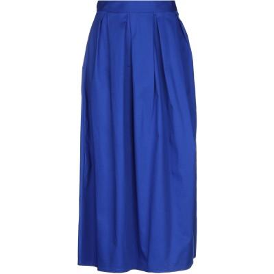 MICHELA MII ロングスカート ブルー one size コットン 95% / ポリウレタン 5% ロングスカート