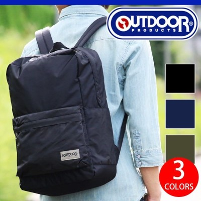 OUTDOOR PRODUCTS アウトドア リュックサック スクエアリュック アウトドアプロダクツ デイパック バックパック ツイル A4 通学 通勤 62238 送料無料 ブランド