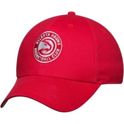メンズ スポーツリーグ バスケットボール Men's Red Atlanta Hawks Mass Basic Adjustable Hat - OSFA 帽子