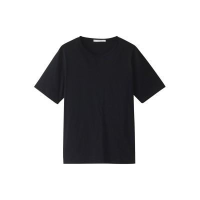 ANAYI アナイ スビンコットンクルーTシャツ レディース ブラック 38