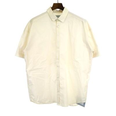 Dulcamara ドゥルカマラ Sスリーブトレンチシャツ ホワイト F メンズ