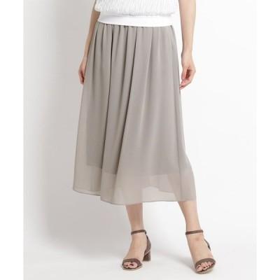 スカート 【洗える】ギャザーロングスカート