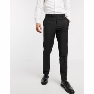 エイソス ASOS DESIGN メンズ スキニー・スリム ボトムス・パンツ slim smart trousers in black ブラック
