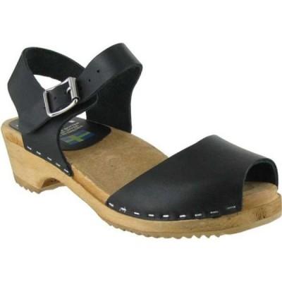 ミア Mia レディース クロッグ シューズ・靴 Anja Clog Sandal Black Italian Leather