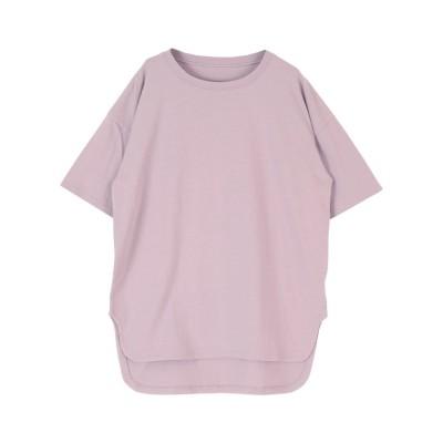 (titivate/ティティベイト)コットンカットソーロング丈Tシャツ/レディース ラベンダー