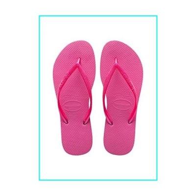 [ハワイアナス] Women's Slim Shocking Pink Rubber Sandal - 8M