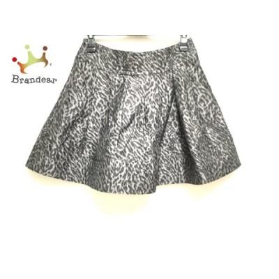 ドゥーズィエム DEUXIEME CLASSE スカート サイズ36 S レディース グレー×黒 豹柄     スペシャル特価 20200831
