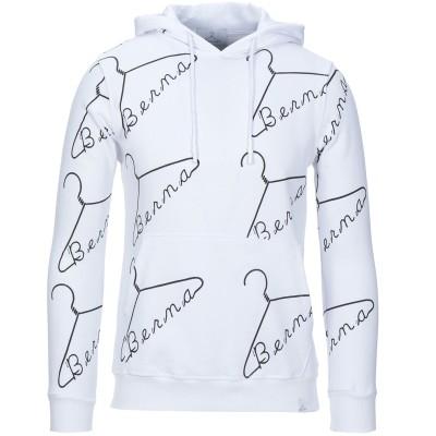 ベルナ BERNA スウェットシャツ ホワイト S コットン 100% スウェットシャツ