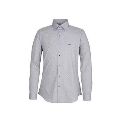 YEZAC Shirt,Dress shirt,高光沢のワイシャツ、デパート系プレミアム、ビジネス、レーヨン・ポリエステル混紡、テン