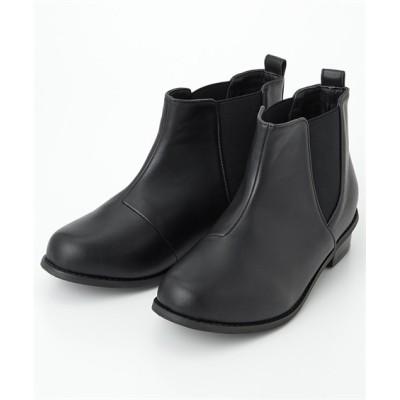 【ゆったり幅】サイドゴアショートブーツ(低反発中敷)(防水仕様)(ワイズ4E) レインシューズ・レインブーツ・長靴, Boots