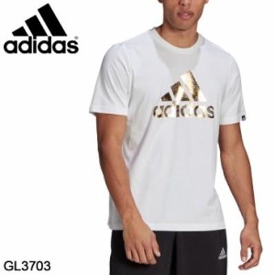 半袖 Tシャツ メンズ アディダス adidas M 8BITFOIL グラフィック Tシャツ/スポーツウェア トレーニング ビッグロゴ クルーネック 白 ホ