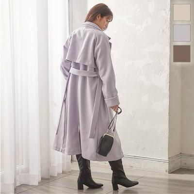 コート ヨークコート レディース アウター ゆったり ロングコート フェイクウール 羽織り 長袖 K1010