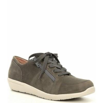 バイオニック レディース スニーカー シューズ Abigail Textile & Suede Lace Up Sneakers Slate Grey