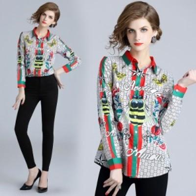リアルショットスポット - #ヨーロッパのファッションウエストスリムポジショニングプリントドレス