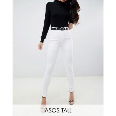 エイソス ASOS Tall レディース ジーンズ・デニム ボトムス・パンツ ASOS DESIGN Tall Ridley high waist skinny jeans in optic white Optic white
