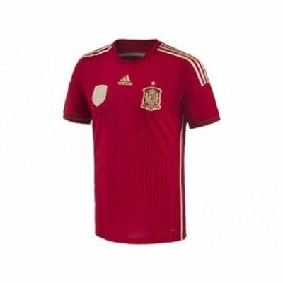 アディダス 2014 スペイン代表 ホーム オーセンティックユニフォーム Vレッド×LFBゴールド×トロ O