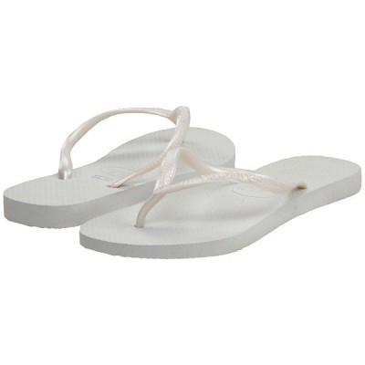 ハワイアナス サンダル レディース Slim Flip Flops White
